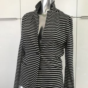 J crew navy blue and white stripe jacket